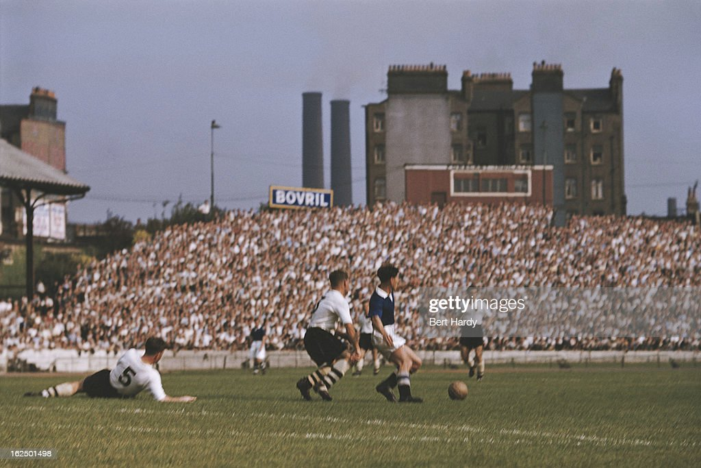 Chelsea playing at home to Bolton Wanderers at Stamford Bridge London 10th April 1954 Bolton Wanderers won the match 20 Original publication Picture...
