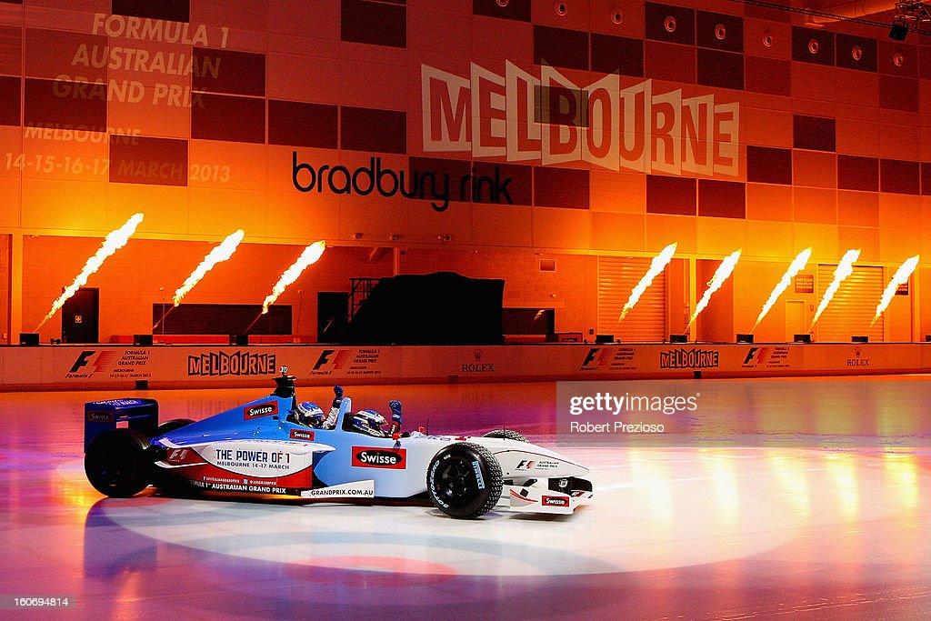 Chelsea Scanlan Ambassador of the Formula 1 arrives during the 2013 Formula One Australian Grand Prix Launch on February 5, 2013 in Melbourne, Australia.