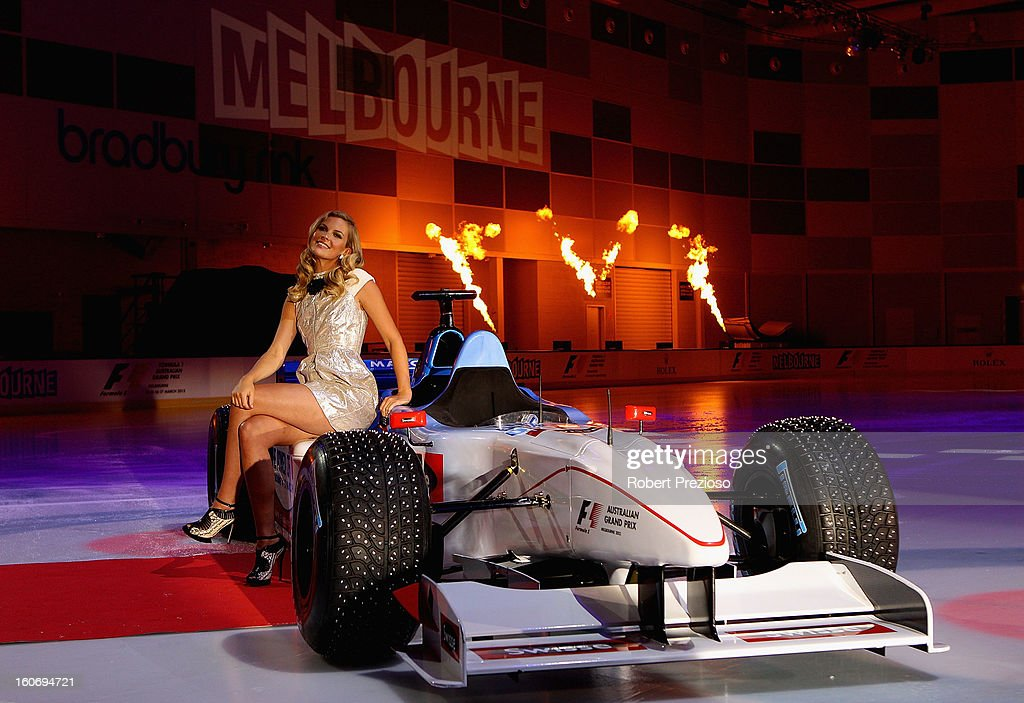Chelsea Scanlan Ambassador of the Formula 1 poses for photos during the 2013 Formula One Australian Grand Prix Launch on February 5, 2013 in Melbourne, Australia.