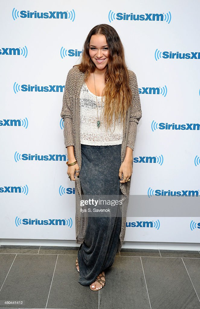 Chelsea Stone of the group Love Dollhouse visits the SiriusXM Studios on June 11, 2014 in New York City.