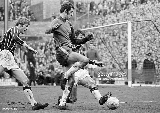 Chelsea striker Peter Osgood in action during their match against Crystal Palace at Stamford Bridge in London 7th February 1970