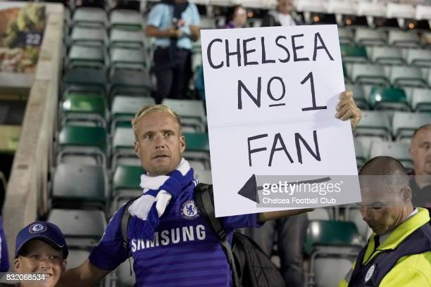 Chelsea supporters during the Checkatrade Trophy match at Home Park on August 15 2017 in Plymouth England