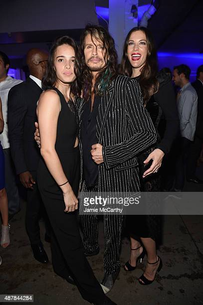 Chelsea Tallarico Steven Tyler and Liv Tyler attend the Givenchy SS16 after party on September 11 2015 in New York City