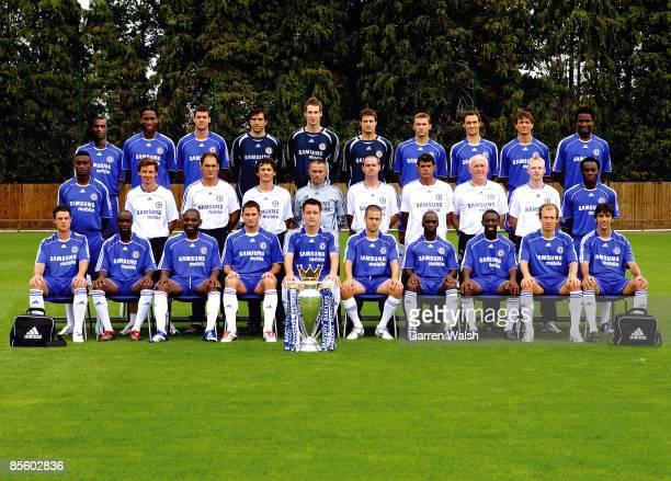 Chelsea team group Back row LR Ashley Cole Didier Drogba Michael Ballack Hilario Petr Cech Carlo Cudicini Andrei Shevchenko Ricardo Carvalho Khalid...