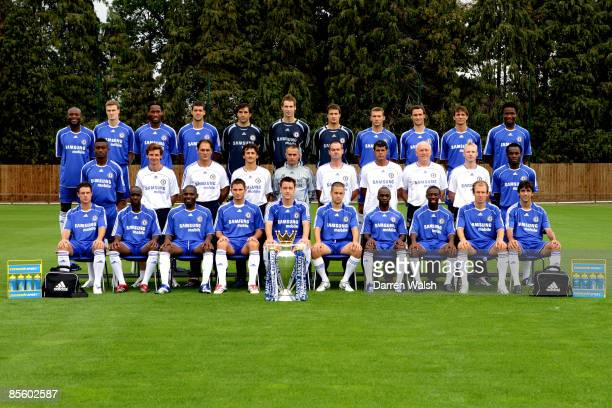 Chelsea team group Back row LR William Gallas Robert Huth Didier Drogba Michael Ballack Hilario Petr Cech Carlo Cudicini Andrei Shevchenko Ricardo...