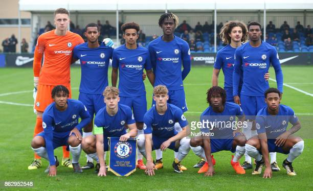 Chelsea Team Shoot during UEFA YouthLeague match between Chelsea Under 19s against AS Roma Under 19s at Cobham Training Ground Cobham on 18 Oct 2017