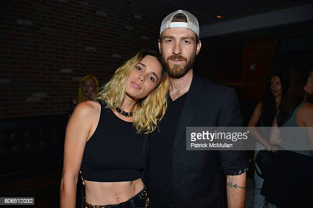 Chelsea Tyler and John Foster attend Interview Topshop Celebrate the Interview September Issue at Kola House on September 13 2016 in New York City