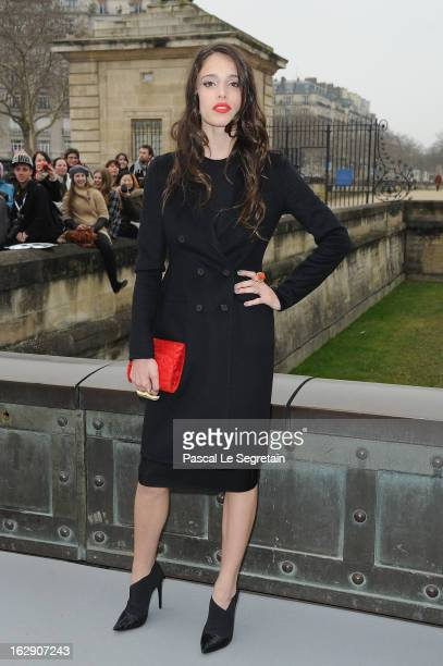 Chelsea Tyler arrives to attend the Christian Dior Fall/Winter 2013 ReadytoWear show as part of Paris Fashion Week on March 1 2013 in Paris France