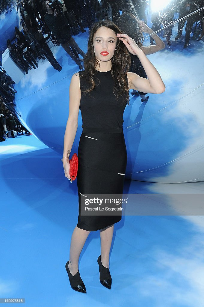 Chelsea Tyler attends the Christian Dior Fall/Winter 2013 Ready-to-Wear show as part of Paris Fashion Week on March 1, 2013 in Paris, France.