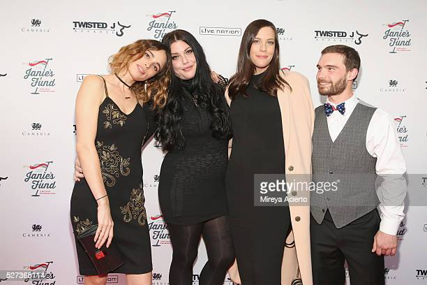 Chelsea Tyler Mia Tyler Liv Tyler and Taj Tallarico attend 'Steven TylerOut on a Limb' show to benefit Janie's Fund in collaboration with Youth...