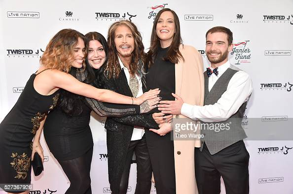 Chelsea Tyler Mia Tyler Steven Tyler Liv Tyler and Taj Tallarico attend 'Steven TylerOut on a Limb' Show to Benefit Janie's Fund in Collaboration...