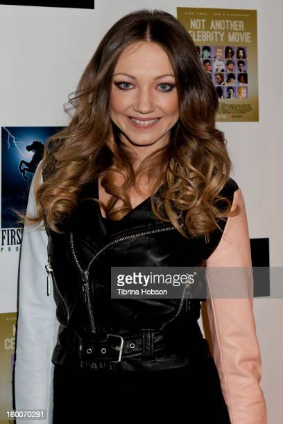 Chelsea Wallace attends the 'Not Another Celebrity Movie' Los Angeles premiere at Pacific Design Center on January 17 2013 in West Hollywood...