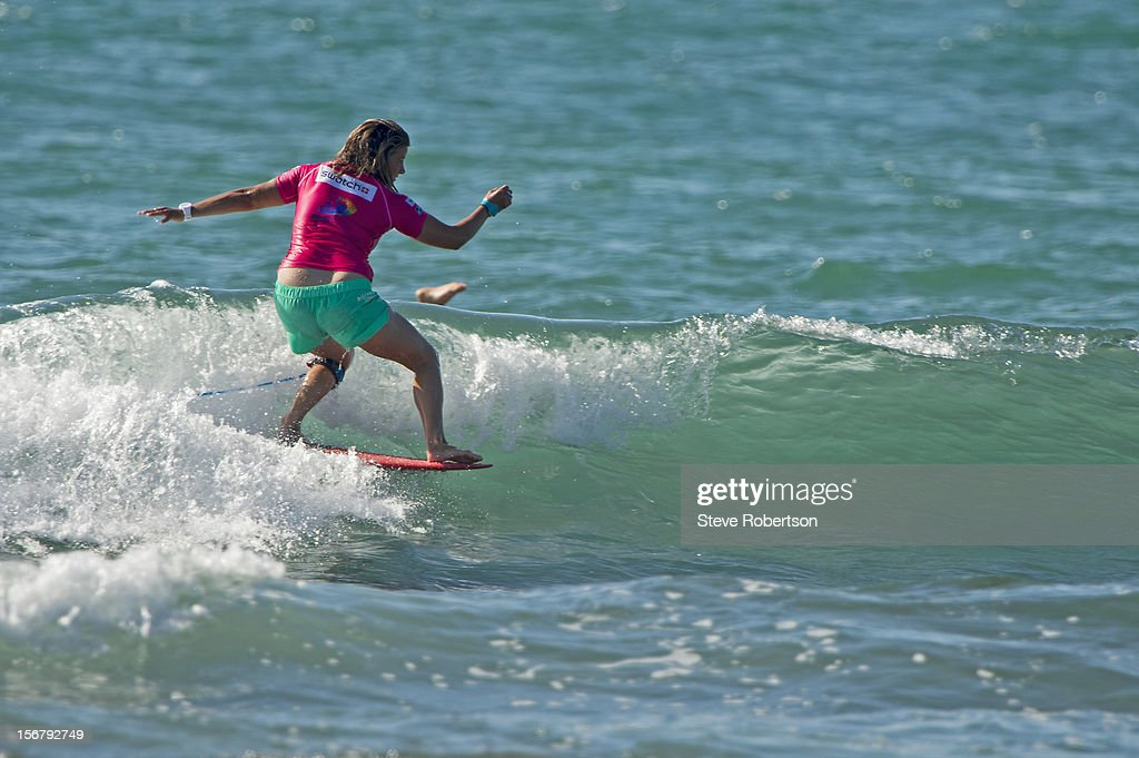 Chelsea Williams of Australia wins her round 1 heat at the Swatch Girls Pro on November 21, 2012 in Hainan Island, China.