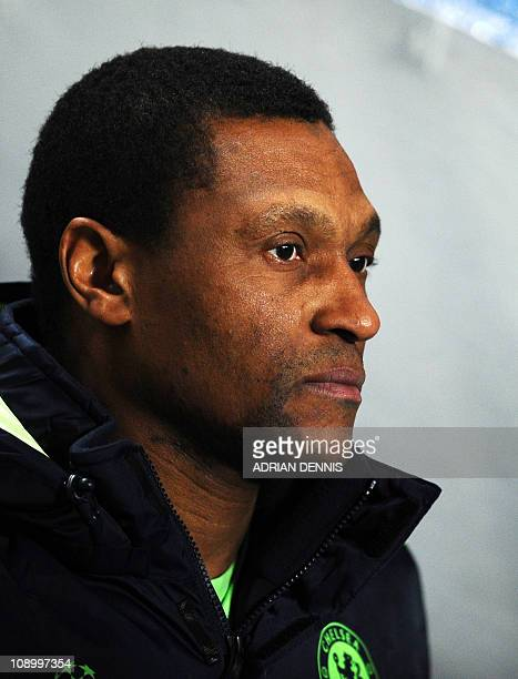 Chelsea's Assistant Coach Michael Emenalo walks out of the tunnel ahead of the game against MSK Zilina during their UEFA Champions League group F...