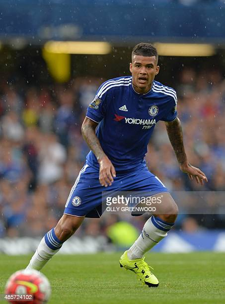 Chelsea's Brazilian striker Kenedy watches the ball during the English Premier League football match between Chelsea and Crystal Palace at Stamford...