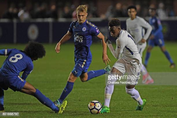 Chelsea's Callum HudsonOdoi during the Premier League 2 match between Leicester City and Chelsea on September 22 2017 in Leicester England