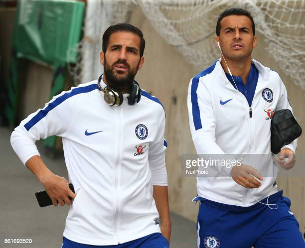 LR Chelsea's Cesc Fabregas and Chelsea's Pedro during Premier League match between Crystal Palace and Chelsea at Selhurst Park Stadium London England...