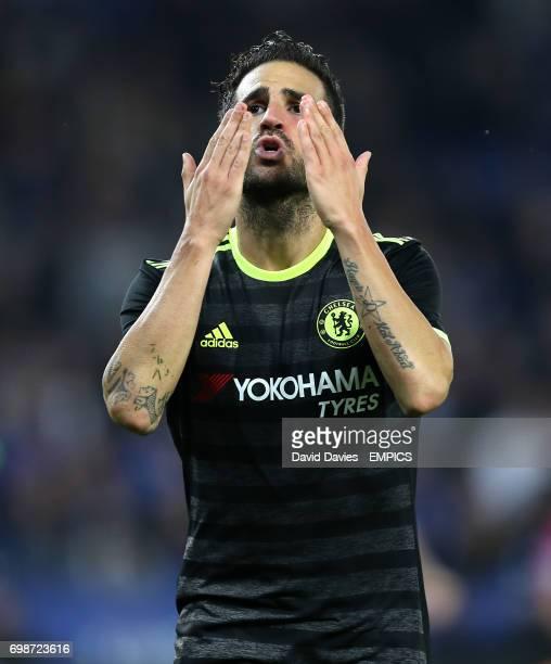 Chelsea's Cesc Fabregas celebrates scoring his side's third goal