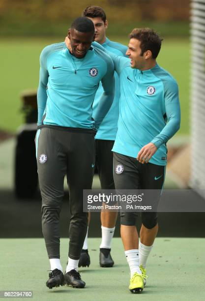 Chelsea's Cesc Fabregas during a training session at Chelsea FC Training Ground Stoke D'Abernon