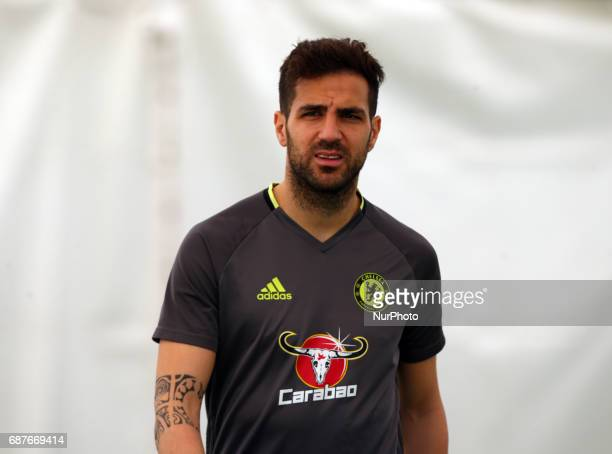 Chelsea's Cesc Fabregas during FA Cup Final Media Day at Cobham Training Ground on 24 May 2017 at Stoke D'Abernon Cobham England