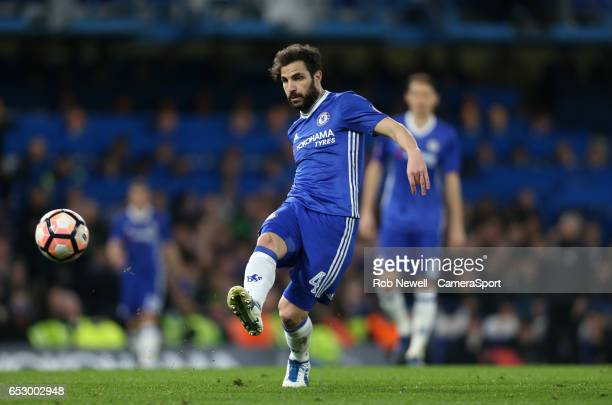 Chelsea's Cesc Fabregas during the Emirates FA Cup QuarterFinal match between Chelsea and Manchester United at Stamford Bridge on March 13 2017 in...