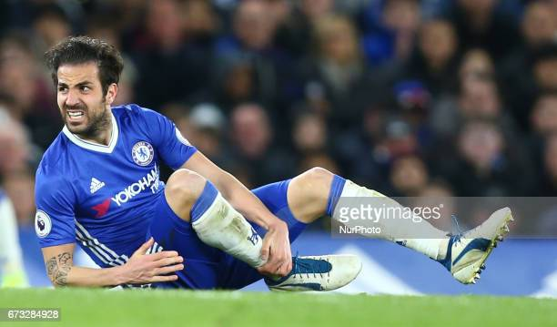 Chelsea's Cesc Fabregas during the Premier League match between Chelsea and Southampton at Stamford Bridge London England on 25 April 2017