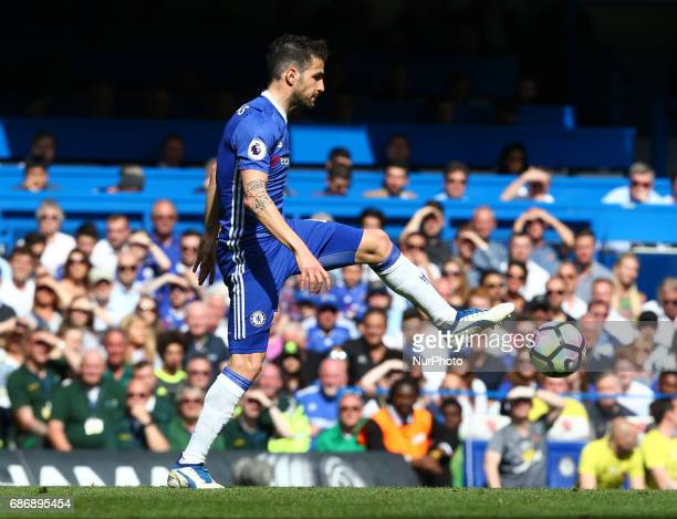 Chelsea's Cesc Fabregas during the Premier League match between Chelsea and Sunderland at Stamford Bridge London England on 21 May 2017