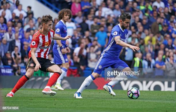 Chelsea's Cesc Fabregas during the Premier League match between Chelsea and Sunderland at Stamford Bridge on May 21 2017 in London England