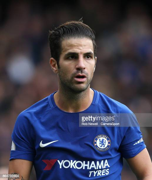Chelsea's Cesc Fabregas during the Premier League match between Chelsea and Watford at Stamford Bridge on October 21 2017 in London England