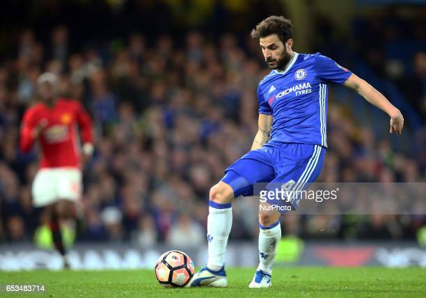 Chelsea's Cesc Fabregas during the The Emirates FA Cup Sixth Round match between Chelsea and Manchester United at Stamford Bridge London England on...