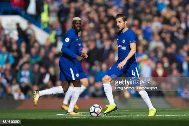 Chelsea's Cesc Fabregas in action during the Premier League match between Chelsea and Watford at Stamford Bridge on October 21 2017 in London England