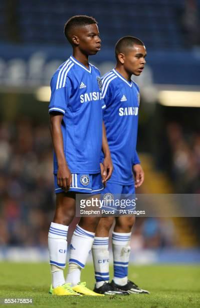 Chelsea's Charly Musonda and Jake ClarkeSalter