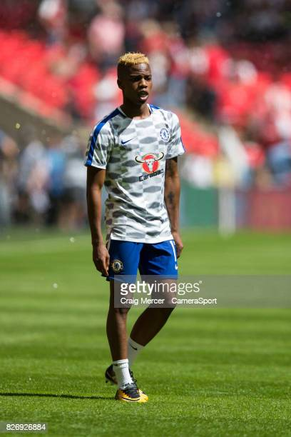 Chelsea's Charly Musonda warms up before the FA Community Shield match between Arsenal and Chelsea at Wembley Stadium on August 6 2017 in London...
