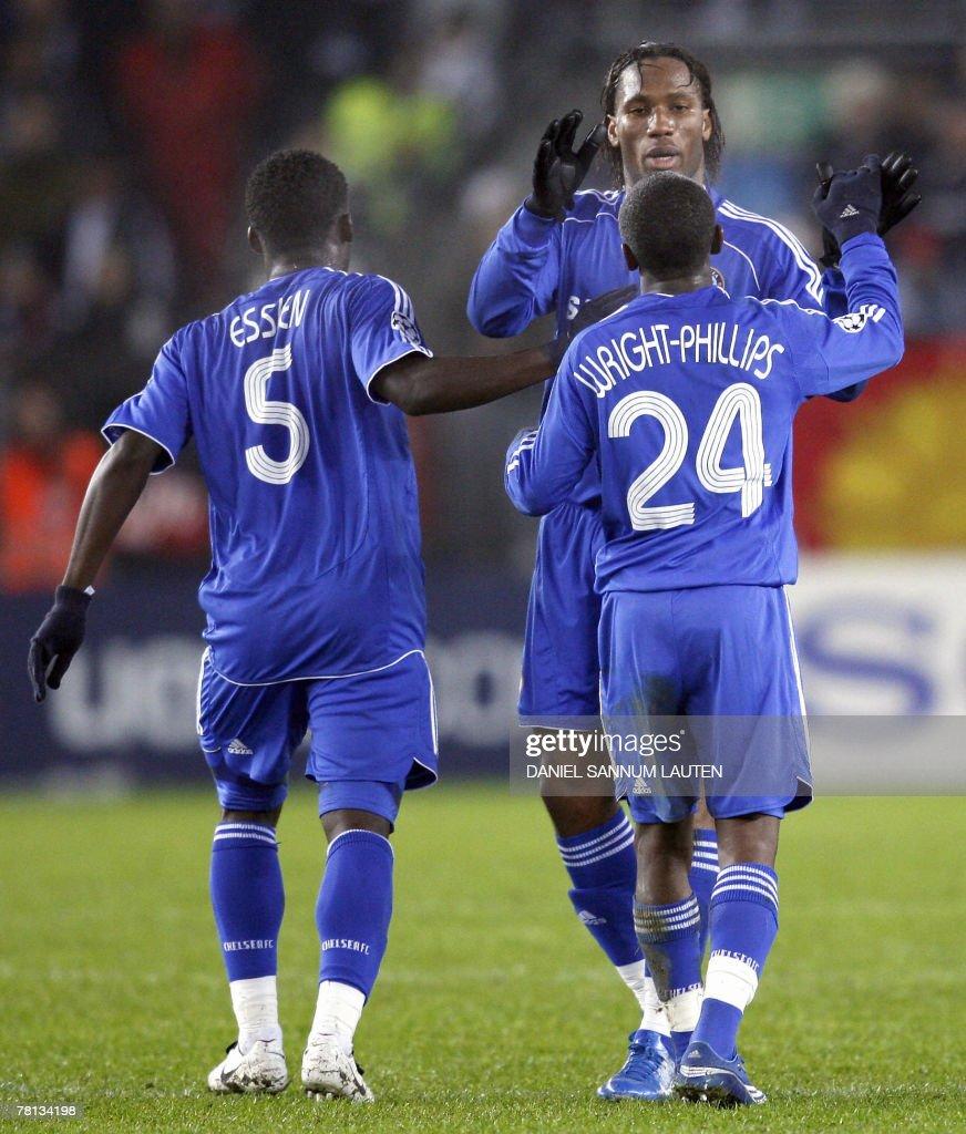 Chelsea s Di r Drogba R celebrates w