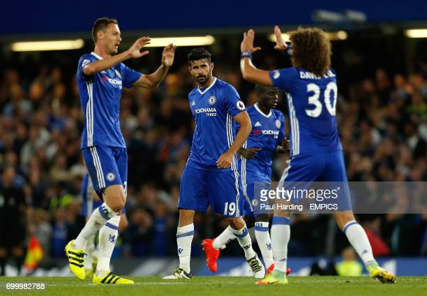 Chelsea's Diego Costa after scoring his side's first goal