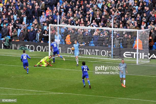 Chelsea's Diego Costa celebrates his goal during the Barclay's Premiership match at the Etihad Stadium Manchester on 3rd December 2016