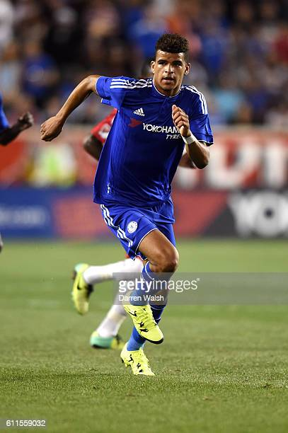 Chelsea's Dominic Solanke during a Pre Season Friendly match between New York Red Bulls and Chelsea at the Red Bull Arena on 22nd July 2015 in...