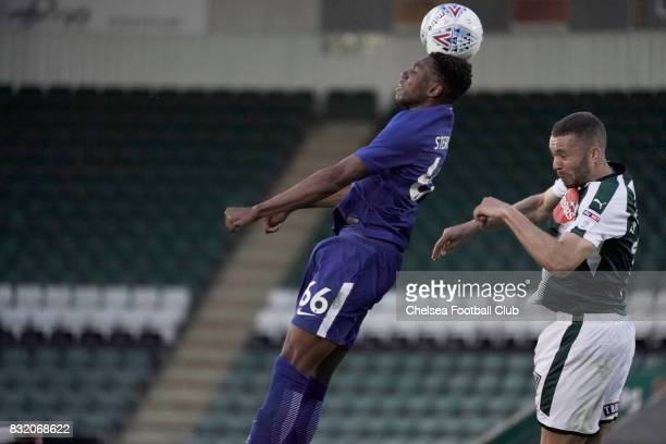 Chelsea's Dujon Sterling during the Checkatrade Trophy match at Home Park on August 15 2017 in Plymouth England