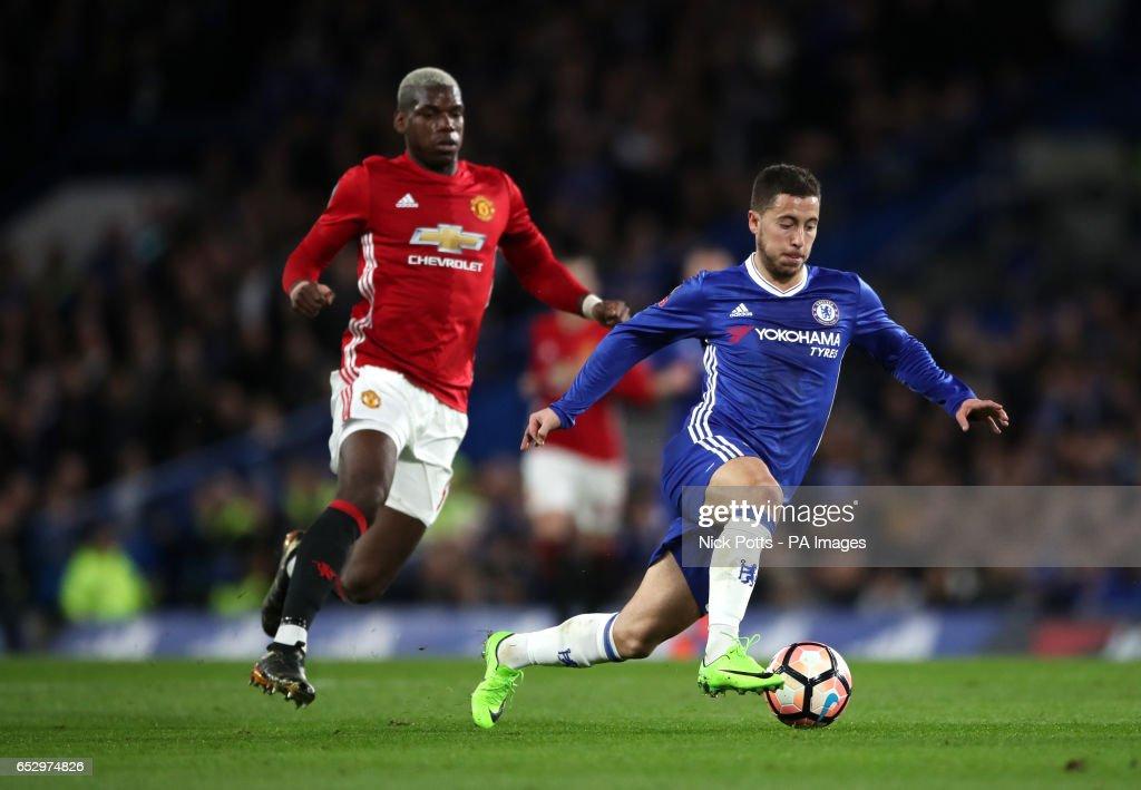 Chelsea's Eden Hazard during the Emirates FA Cup, Quarter Final match at Stamford Bridge, London.
