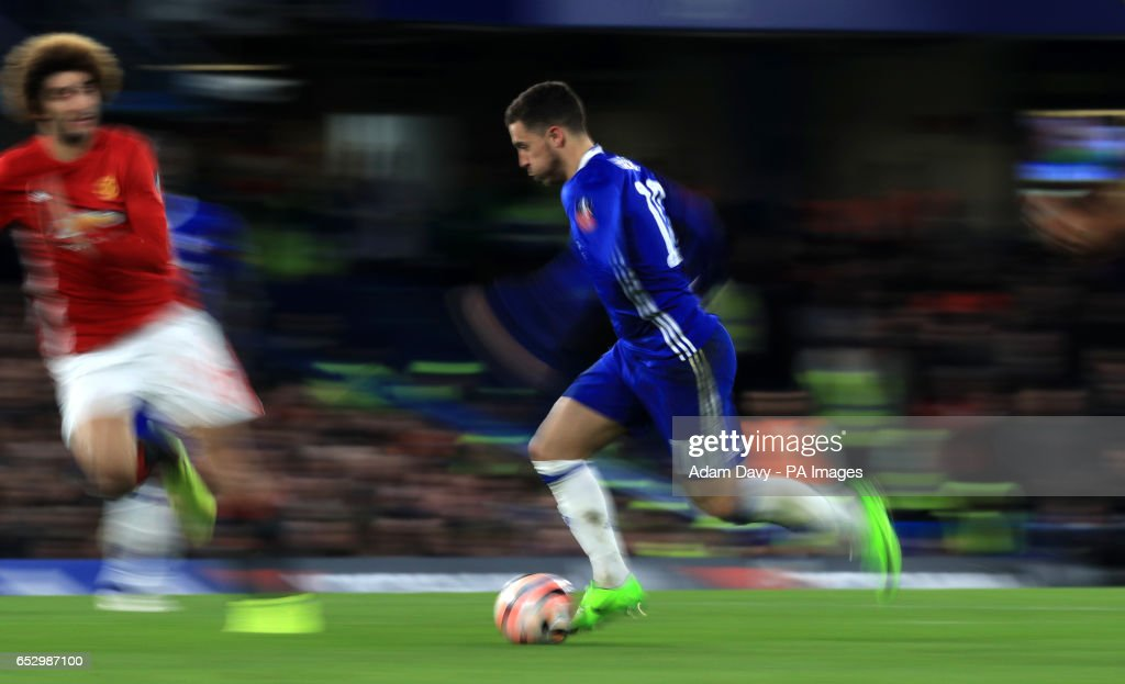 Chelsea's Eden Hazard during the Emirates FA Cup, Quarter Final match at Stamford Bridge, London.
