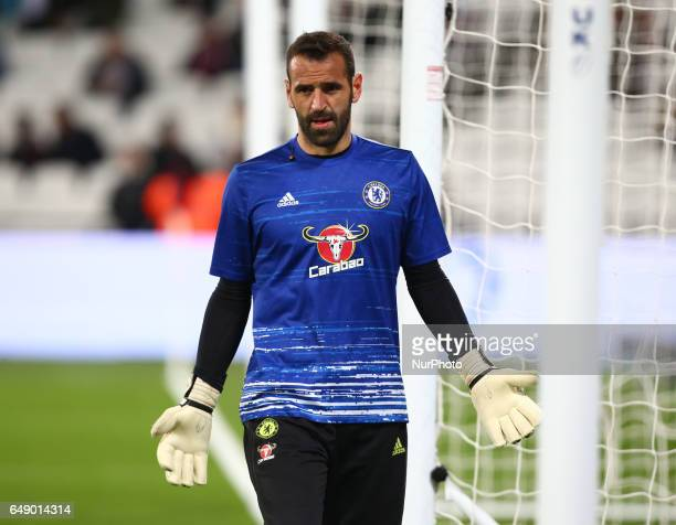 Chelsea's Eduardo during the prematch warmup during the prematch warmup during EPL Premier League match between West Ham United against Chelsea at...
