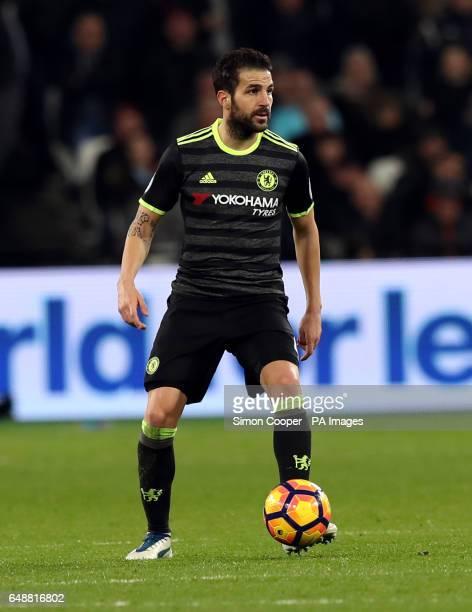 Chelsea's Francesc Fabregasduring the Premier League match at the London Stadium