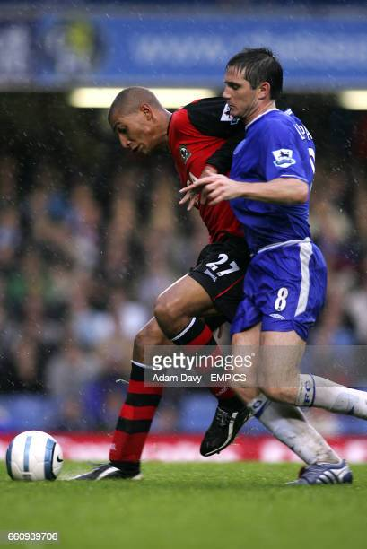 Chelsea's Frank Lampard and Blackburn Rovers' Jay Bothroyd battle for the ball