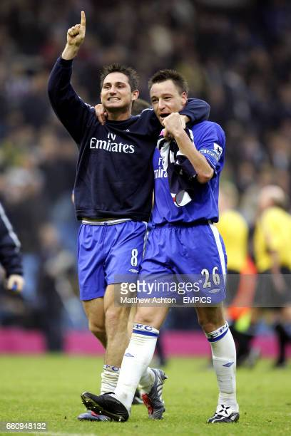 Chelsea's Frank Lampard and John Terry celebrate after defeating West Bromwich Albion