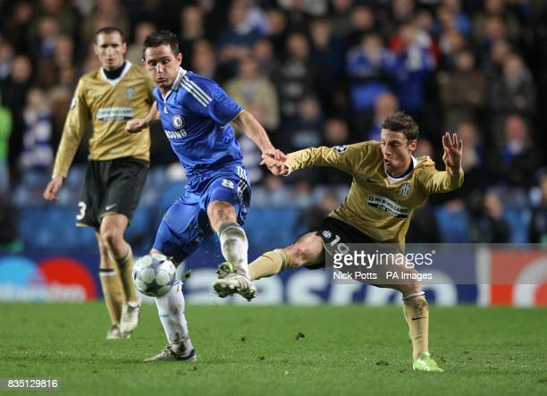 Chelsea's Frank Lampard and Juventus' Claudio Marchisio battle for the ball