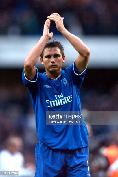 Chelsea's Frank Lampard applauds the fans after the game