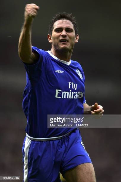 Chelsea's Frank Lampard celebrates after scoring the fourth goal
