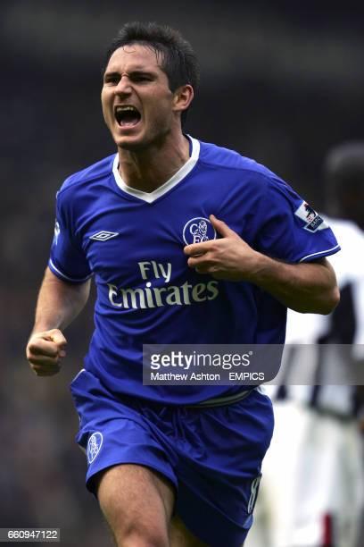 Chelsea's Frank Lampard celebrates scoring the fourth goal