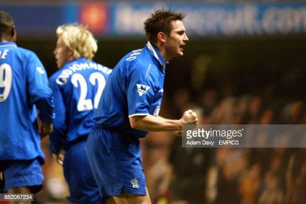 Chelsea's Frank Lampard celebrates scoring the second goal against Leeds United