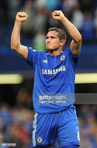 Chelsea's Frank Lampard celebrates victory after the final whistle